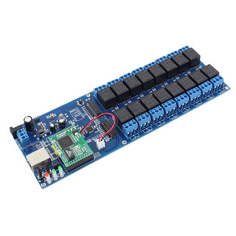 Q058 USR-R16-T Industrial Ethernet Network Relay 16 Channel Remote Control Switch with TCP Interface q and q vp34 058