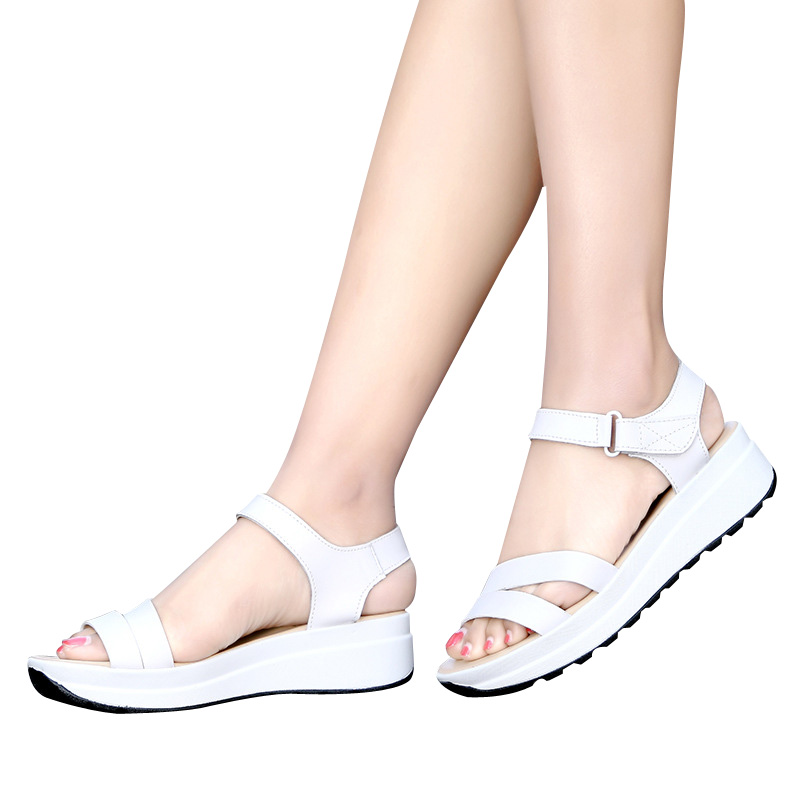 E TOY WORD Fashion Summer sandals women nurse shoes leather flat maternity shoes Comfortable women shoes sandalias mujer 2018 in Women 39 s Sandals from Shoes