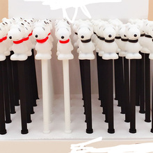 40pcs Gel Pens Kawai Dog Black Color Student Gel-ink for Writing Cute Stationery Office School Supplies 0.5mm