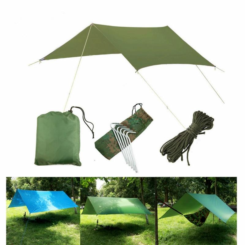 Waterproof Sunscreen 3*3m Sunshade Pergola Sunshade Tent UV Protection Outdoor Camping Hammock Rainproof Rain Camping Awning