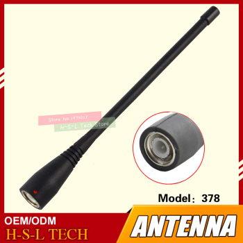 Walkie Talkie Rubber Antenna 450-470Mhz TNC Interface Two Way Radio Antenna For Kenwood TK-378 TK-278 TK-388 Intercom Antenna