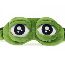 Soft 3D FROG Sleeping Mask Eyeshade Eye Cover Travel Cartoon Long Eyelashes Eyeshade Blindfold Gift For Women Girls