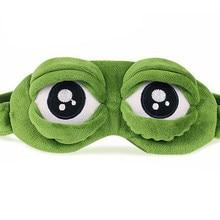 Weiche 3D FROSCH Schlaf Maske Eyeshade Auge Abdeckung Reise Cartoon Lange Wimpern Eyeshade Augenbinde Geschenk Für Frauen Mädchen