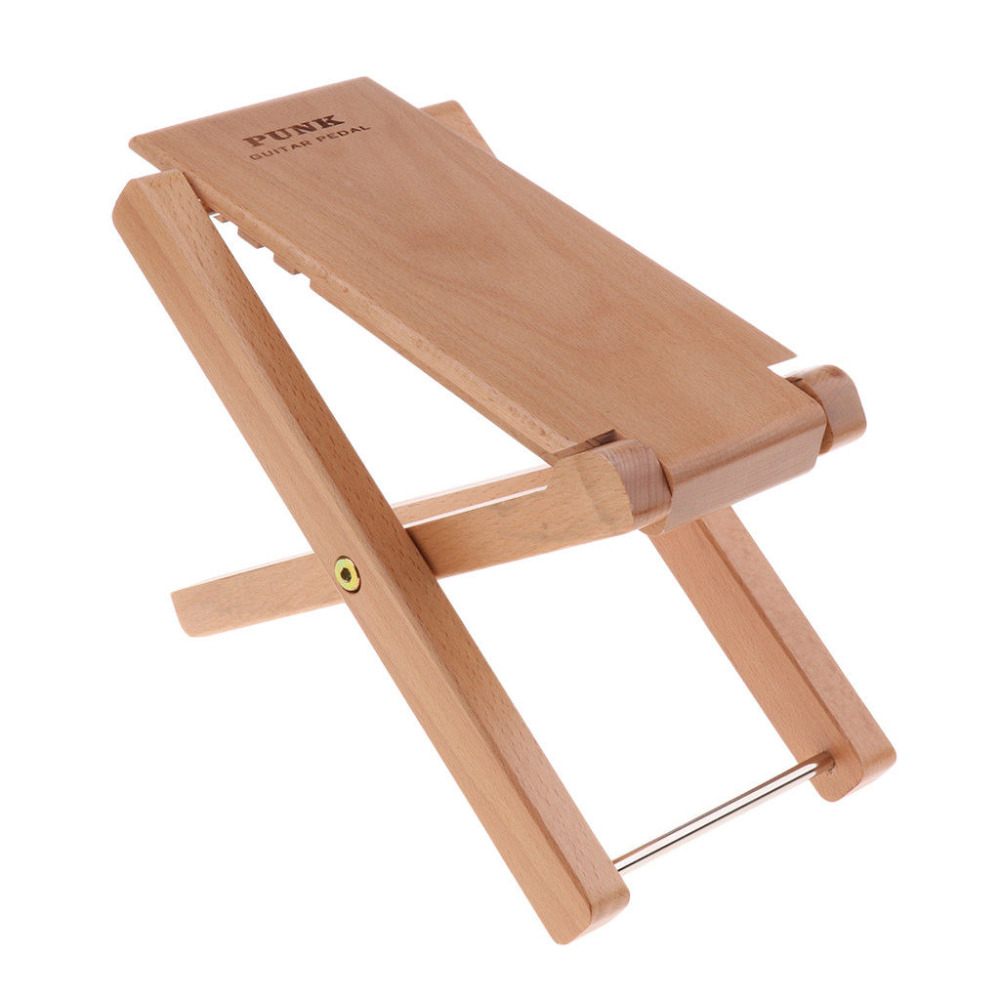 portable wooden guitar footrest foot stool stand stage accessory wood in guitar parts. Black Bedroom Furniture Sets. Home Design Ideas