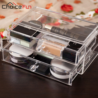 CHOICEFUN New Promotion Makeup Cosmetic Clear Acrylic Organizer Lipstick Jewelry Display Stand Holder Nail Polish Rack