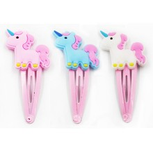Glitter Unicorn Hairclips Cartoon Animal Hair Clips Cute Plastic Hairpins Kids Pin Hair Styling Tools Hot Sale(China)