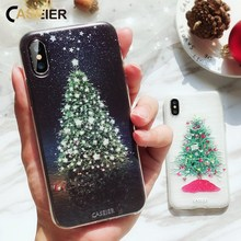 CASEIER Phone Case For iPhone 11 X 7 8 6s 6 Plus 3D Christmas Patterned Silicone XR Pro XS Max Cover Funda