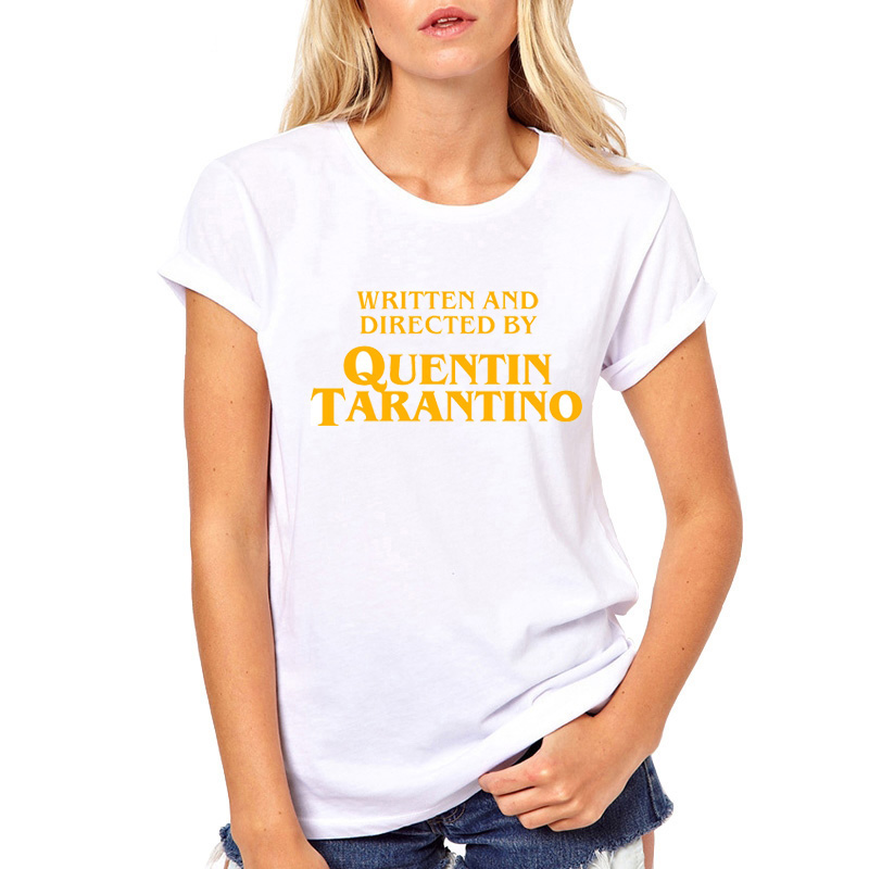 written-and-directed-by-quentin-font-b-tarantino-b-font-t-shirt-woman-white-casual-top-short-sleeve-tee-independent-female-cool-tshirt-t-shirt