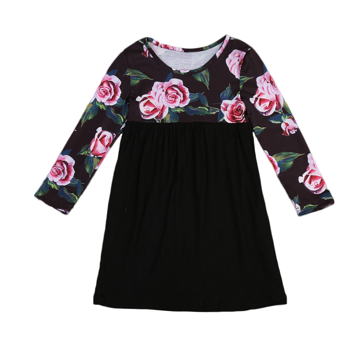 2-7 Years Toddler Kids Baby Girls Clothes Dresses Long Sleeve Summer Outfits Flower Cute New Summer Dress Girl стоимость