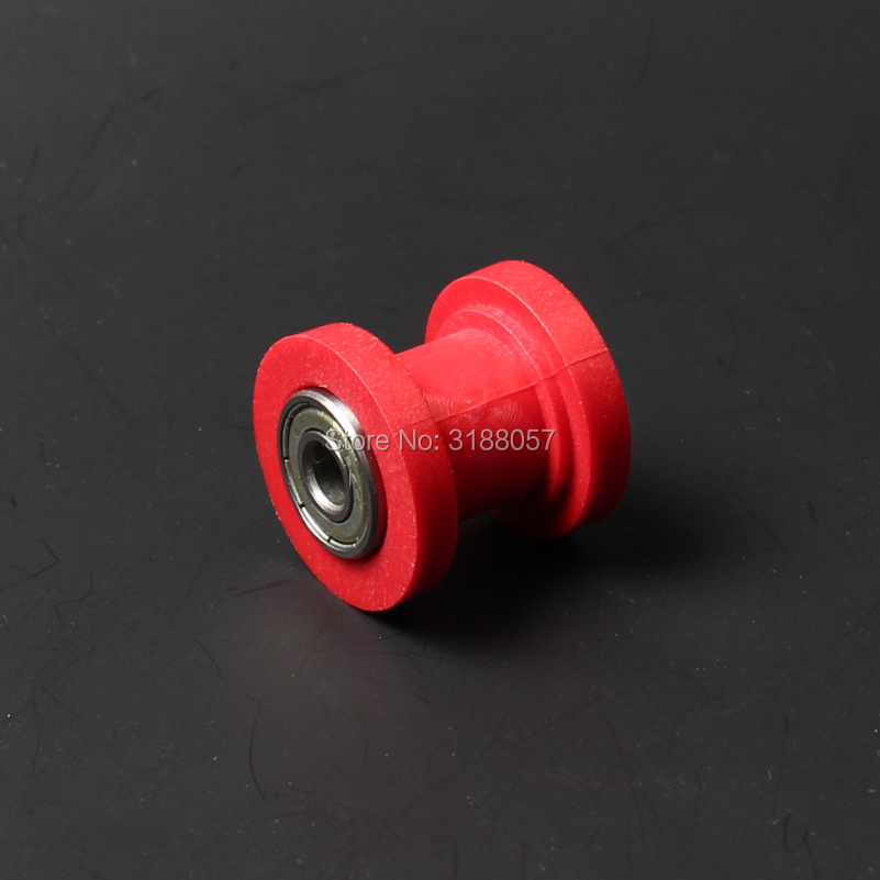Dirt Bike Chain Rollers Pulley Chain Tensioner For Motorized Pit dirt Bike Motorcycle New 10mm Red white