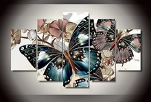 H174 diamond painting animal,cross stitch cross stitch,butterfly,5pcs,diamond triptych