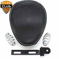 Leather Motorcycle For Harley Sportster Chopper Bobber Custom SOLO Spring Bracket Seat Solo Seat Cover