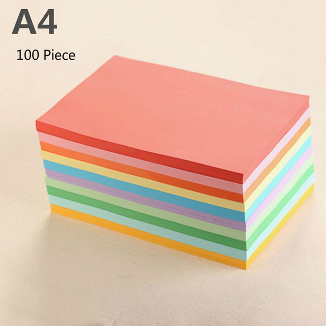 100piece A4 Colorful Craft Paper Copy Paper Printing Paper Diy