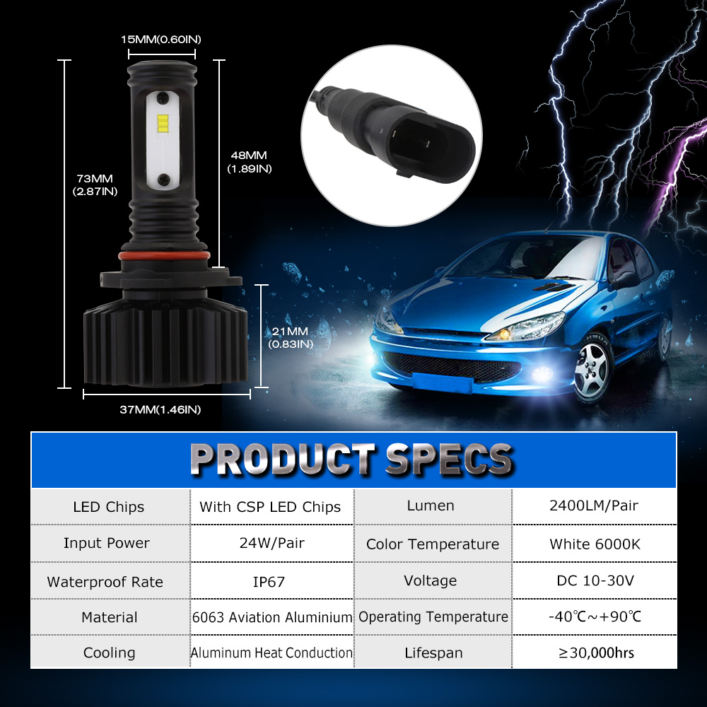 Led Lamp Circuit Board50503smd China Car Novsight 9005 Hb3 Fog Lamps Headlight 24w 2400lm Auto Driving Light Bulbs 6000k Cool White In Bulbsled From Automobiles