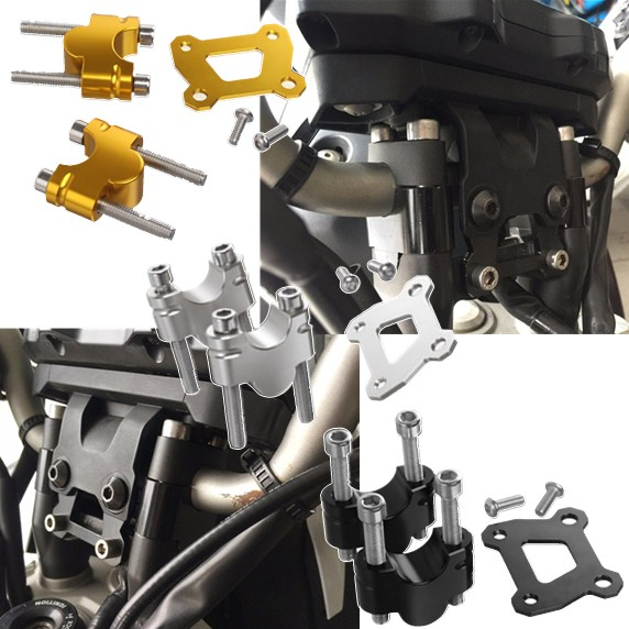 For <font><b>YAMAHA</b></font> MT07 FZ07 Handlebar Riser Mount Clamp <font><b>MT</b></font> FZ <font><b>07</b></font> Moto Cage <font><b>Tracer</b></font> 700 <font><b>MT</b></font>-<font><b>07</b></font> Raiser 25mm Up Adapter 2014 2015 2016 2017 image