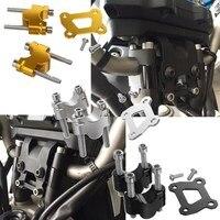 MT07 FZ07 Handlebar Riser Mount Clamp Raise 25mm Up Adapter for 2014 15 16 17 YAMAHA MT FZ 07 Moto Cage Tracer 700 MT 07