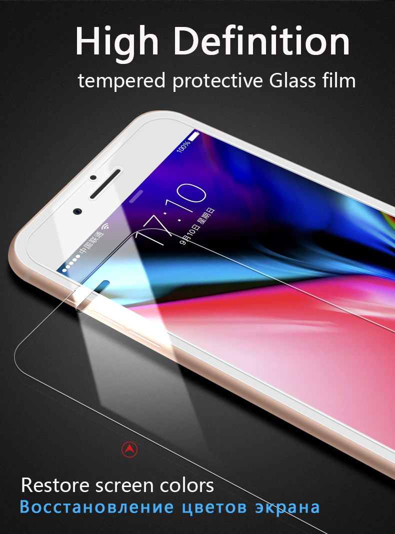 9H Anti-fingerprint Protective Glass for iPhone 6S 7 8 Plus Screen Protector iPhone 4 5 Tempered Glass on iPhone X XS Plus Glass