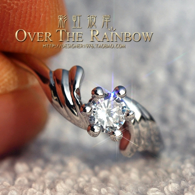 25 ring high artificial 25 hearts and arrows diamond ring female zircon marriage