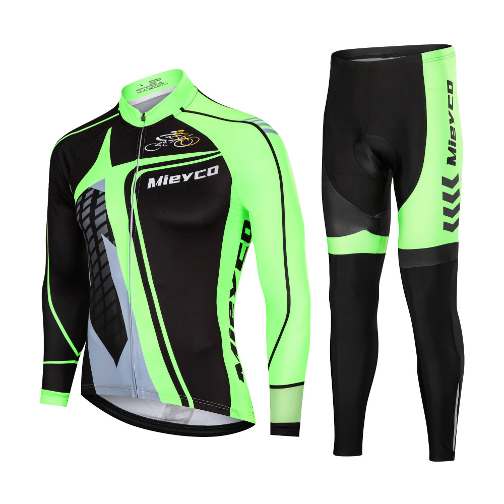 Autumn Cycling Set Bicycle Jersey Long Sleeves Shirt Trousers Suit MTB Downhill Bike Cycling Sportswear Jacket