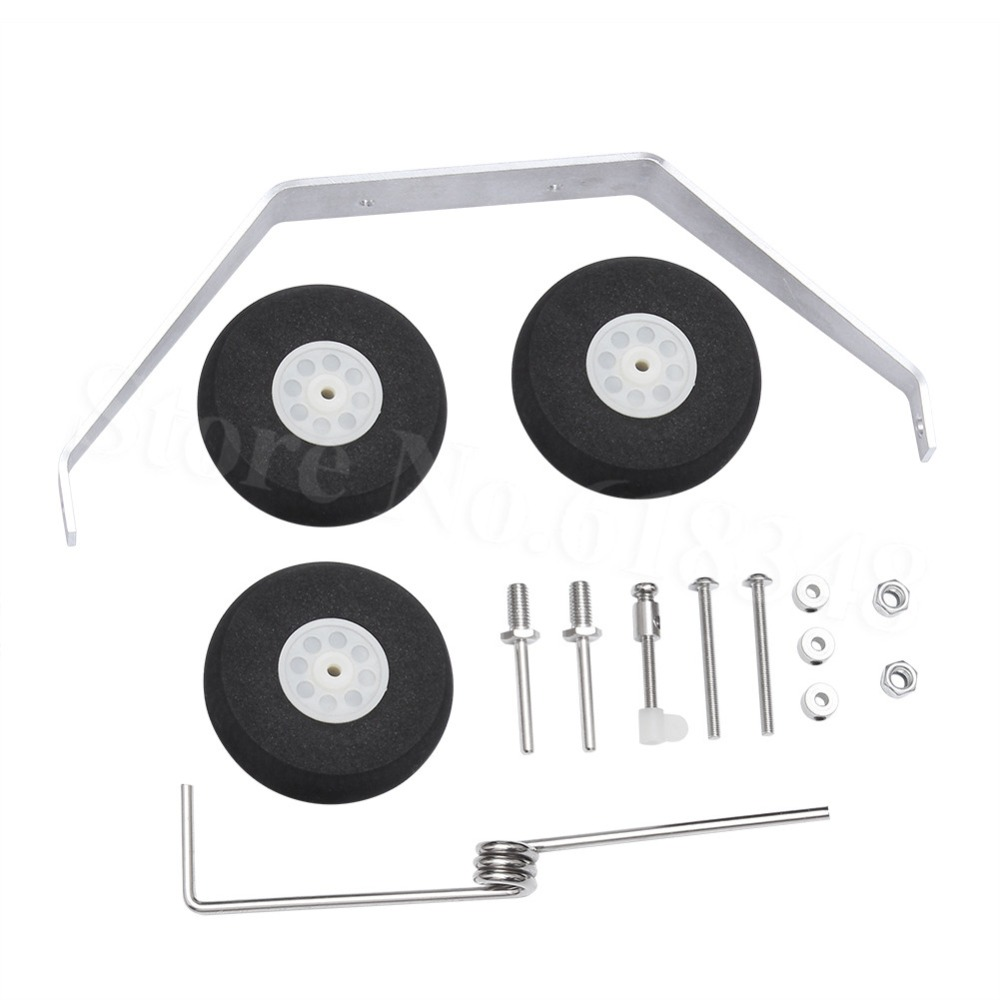 Aluminum Main Landing Gear Wheel Kit RC Airplane Cessna 182 Parts Replacement 40 Size ARF PNP image