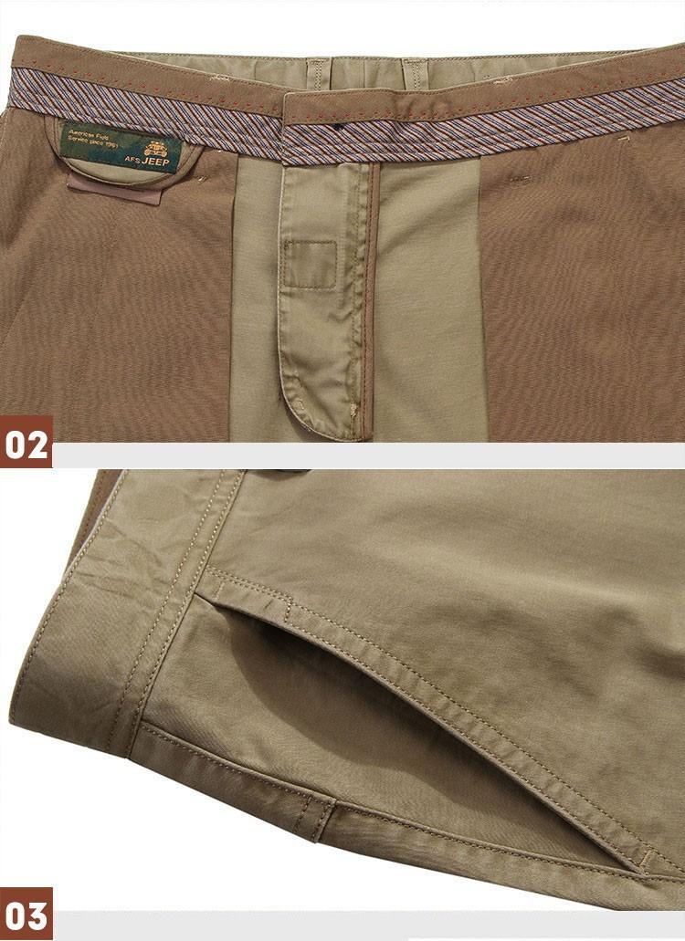 4 Colors 30-42 100% Cotton Fashion Joggers Men Casual Long Pants Men\'s Clothing Black Khaki Pants Trousers Autumn Summer Brand (3)