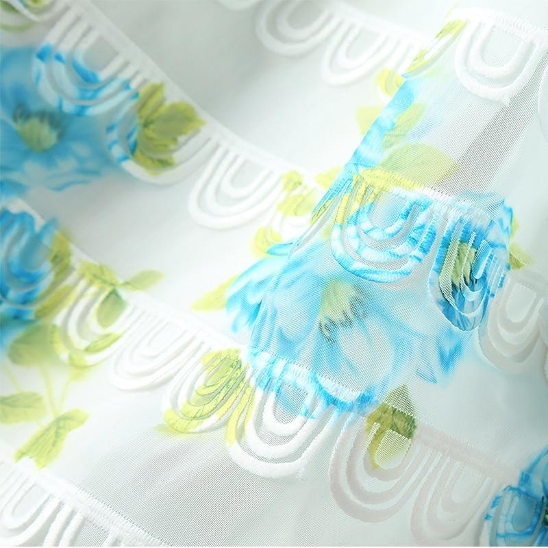 Impression Longue Gâteau Bord Princesse Robe Taille Accepter Frais À En La Douce Trois Ondulé Nouveau Manches Dimensions Dans x0w75OqnX