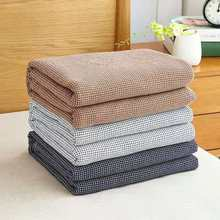 100% washed cotton chunky knit weighted blanket cobijas para cama Reversible summer Cozzy bed Throw Muslin Fabric Blanket