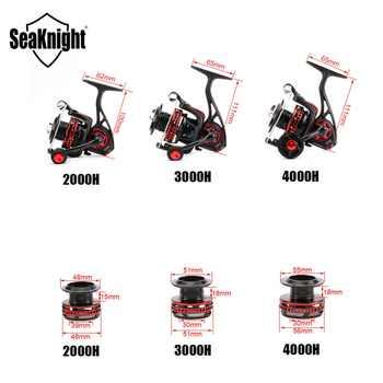 SeaKnight AXE 2000H 3000H 4000H Fishing Reel 6.2:1 Full Metal Body WaterProof Design Anti-Corrosion Reel 10+1BB
