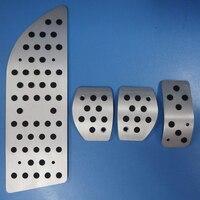 TTCR II Car Accessories For PEUGEOT 301 308 Accelerator/Gas/Brake/Antiskid Aluminium Alloy Pedals Pad, Footrest MT pedals Plate