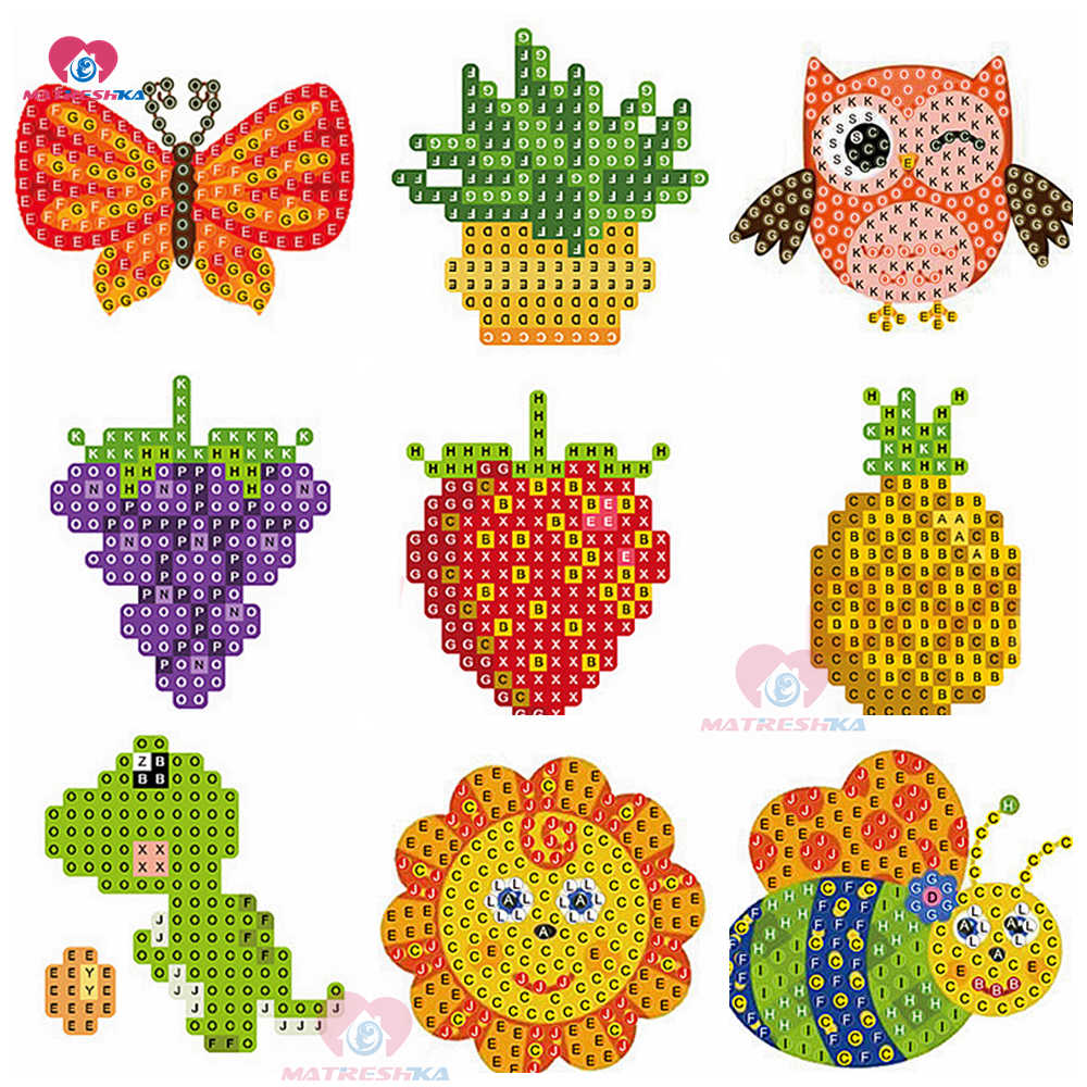 Diy patterns diamond embroidery 5d diamond painting for kids round diamond mosaic sale double sided stickers