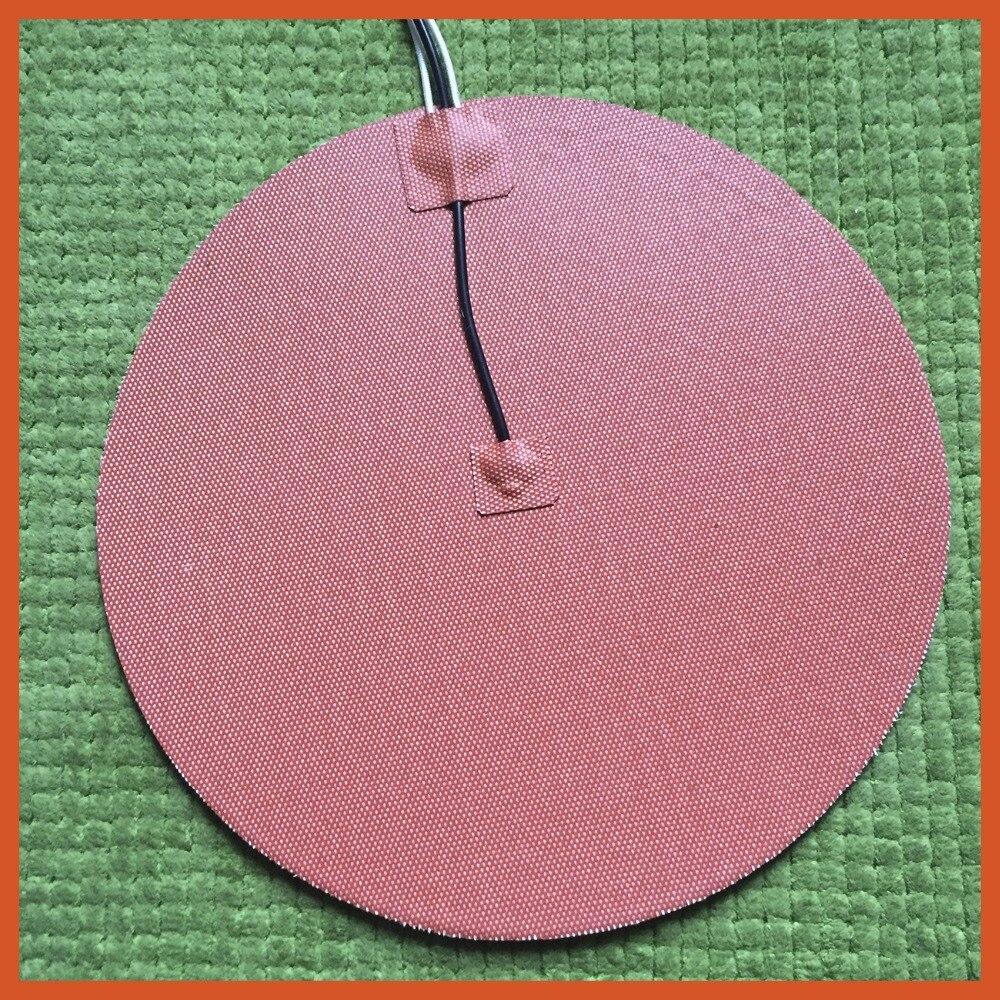 Dia 300mm, 500 W 220 V, w/3 M PSA et NTC 100 K Thermistance, ronde coussin chauffant en silicone Pad, 3D Imprimante Chauffe, Heatbed, Chauffage Industriel