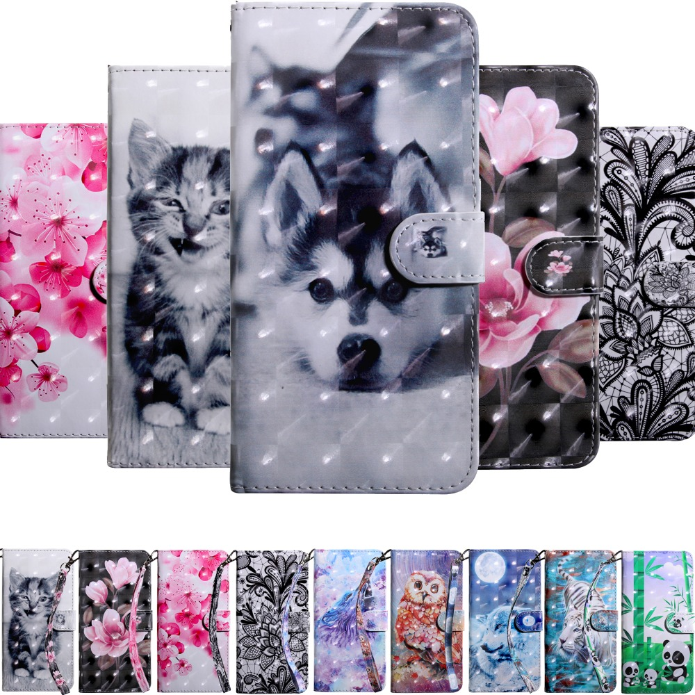 PU Leather cases sFor Lenovo A1010 C2 K10A40 K6 K6 power S60 S60T Case capa Flip Wallet 3D Painted Etui phone cover Funda coque image