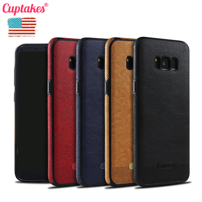Luxury leather PU Soft Case for Samsung Galaxy S8 Plus S6 Edge S7 S7Edge S8 S9 S10 Plus Note 8 9 Cover Coque Screen Protector(China)