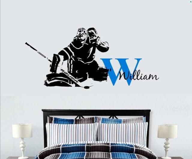 Online Shop Custom Name Hockey Goalie Decal Ice Hockey Goaltender - Custom vinyl decals edmonton