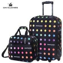 Davidjones 20 дюйм(ов) чемодан и Make-Up Bag камера Набор фиксированной колеса тележки