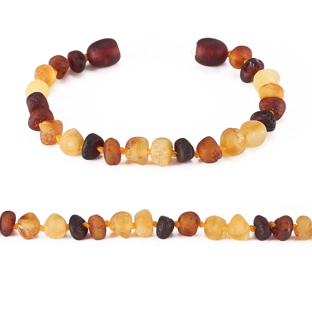 Baltic Amber Teething narukvica za bebe - jednostavan paket - 10 boja - Fine nakit - Foto 4