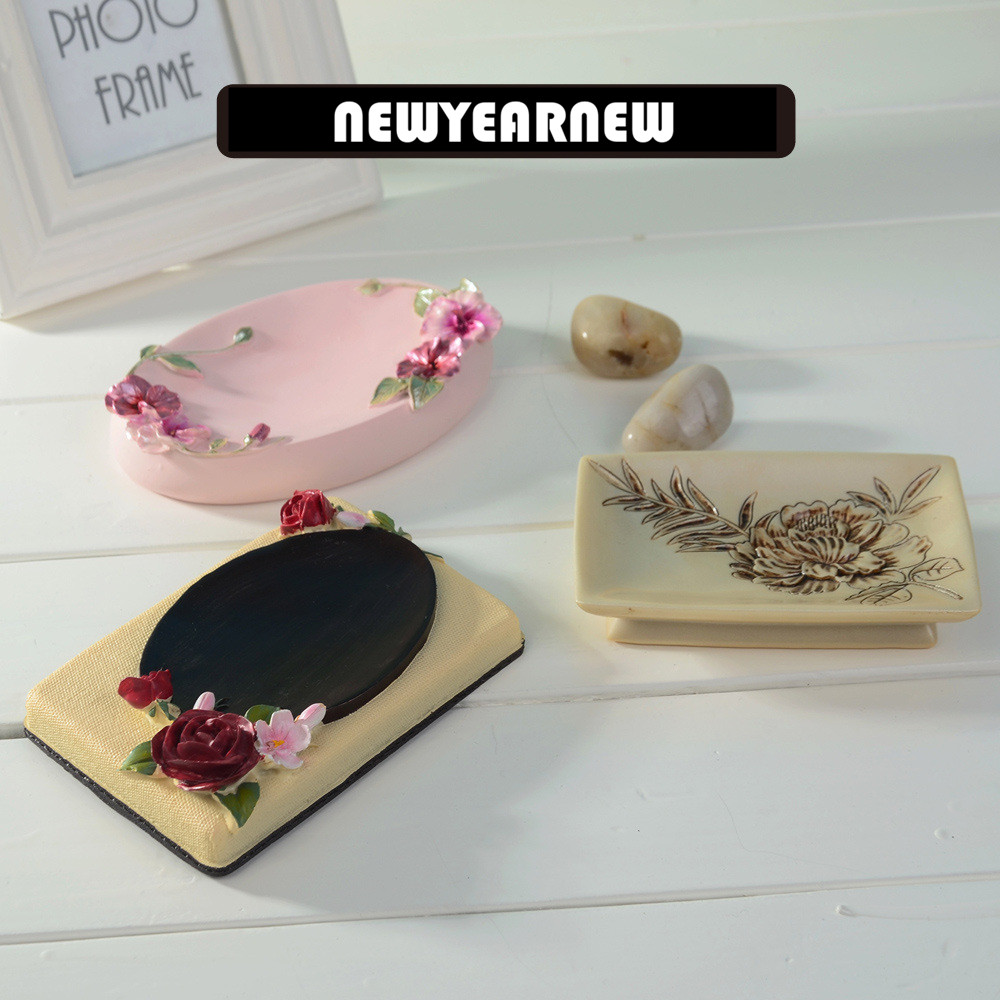 newyearnew resin creative soap box romantic rose wedding gift bathroom accessories set dish ornaments home furnishing
