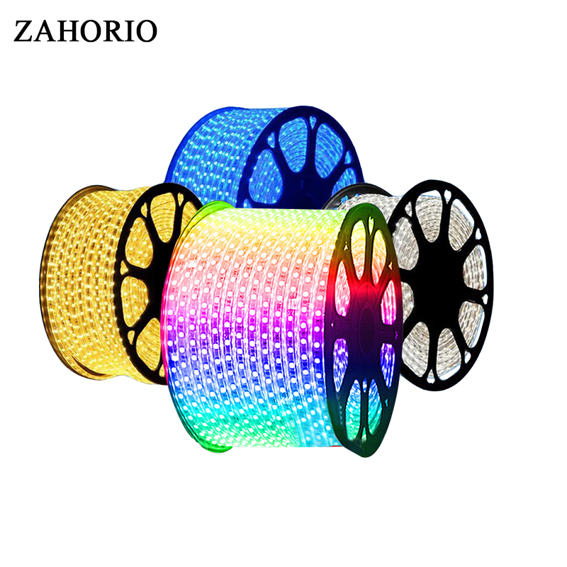 SMD 5050 AC220V LED Strip Flexible Light 60leds/m Waterproof Led Tape LED Light With EU Power Plug 1M/2M/3M/5M/8M/9M/10M/15M/20M