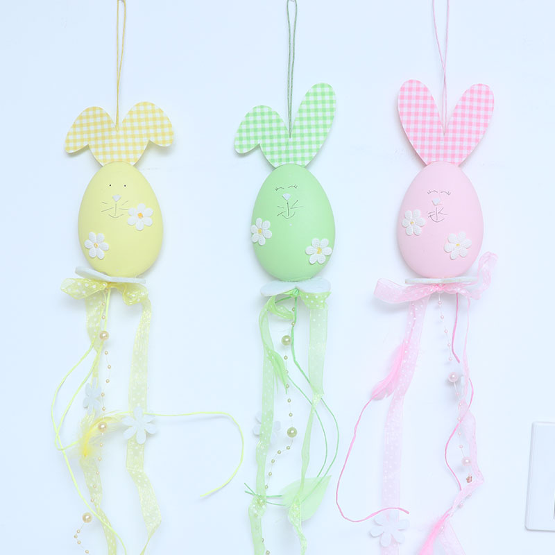 Easter children's cute bunny handicraft toys Easter Christmas New Year fun creative gift pendant