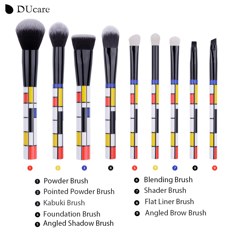 f394d48a96ef DUcare 9 PCS Makeup Brushes Kabuki Foundation Eyeshadow Blending ...