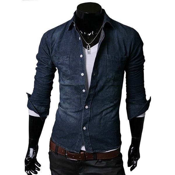 Online Buy Wholesale denim men shirts from China denim men shirts ...
