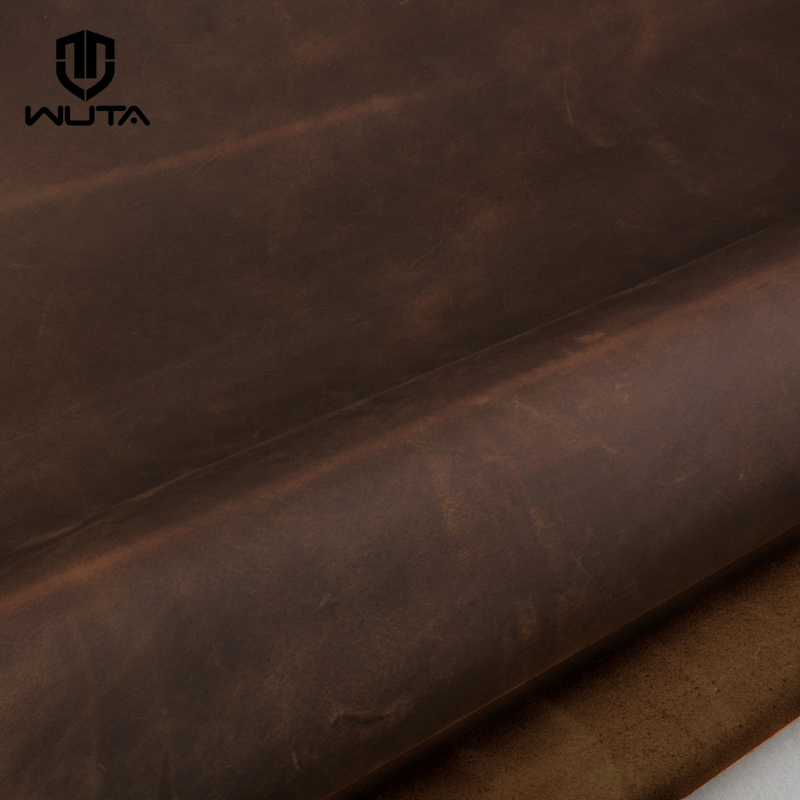 Dark brown pull-up leather crazy horse cowhide for Leathercraft DIY 1.6~1.8mm