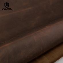 WUTA de cuero de Caballo Loco Material Vintage de cuero pieza pull-up de piel de vaca de primera capa de cuero DIY cartera bolsas