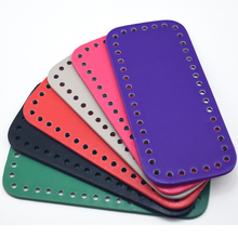18x8cm Bottom for Knitting Bag PU Patent Leather Bag Accessories Rectangle Bottom with Holes Diy Bag Leather Bottom KZBT017