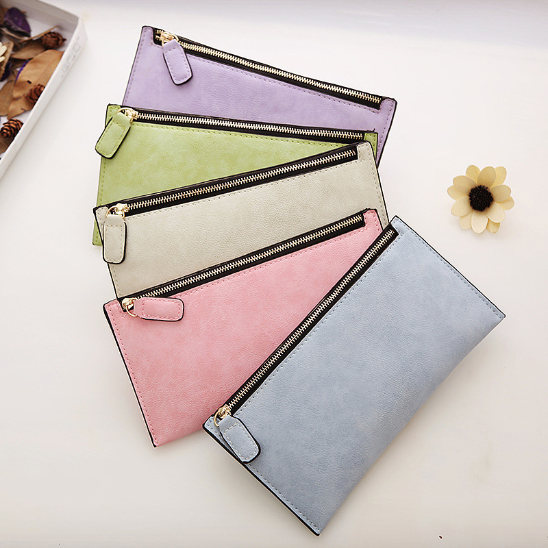 AUTEUIL Thin Wallets Card-Holder Money-Bags Women's Purse Retro Female Low-Price Long