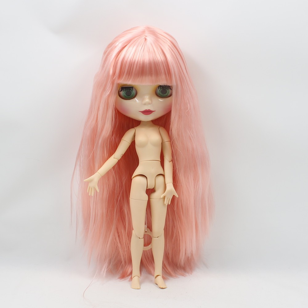 Neo Blythe Doll with Pink Hair, White Skin, Shiny Face & Jointed Body 5
