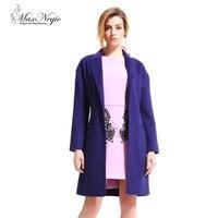 Moda ve Zarif El Yapımı Çift Yan Kaşmir Kış Bayanlar Ceket Giymek