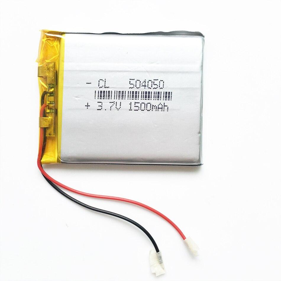3.7 V 1500 mAh 504050 Polímero de Litio Li-po Batería Recargable Para Mp3 DVD mó