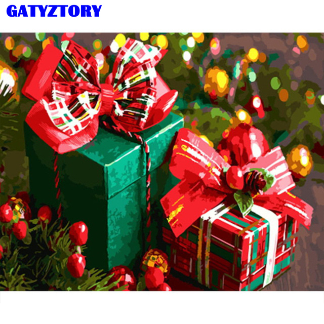 GATYZTORY frame Christmas gift diy painting by numbers acrylic wall art picture paint by numbers modern home decor unique gift