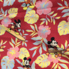 140X100cm Red Background Mickey Mouse Printed Cotton Fabric For Baby Boy Clothes Sewing Hometextile Patchwork DIY